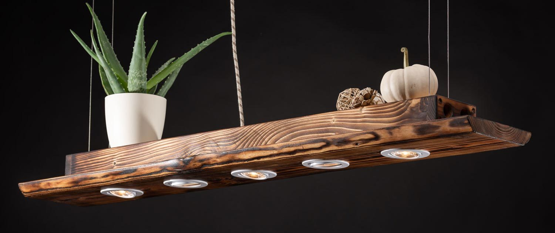 LED Holz Massive Hängelampe für die Küche, Wohnzimmer, Esszimmer und Esstisch.